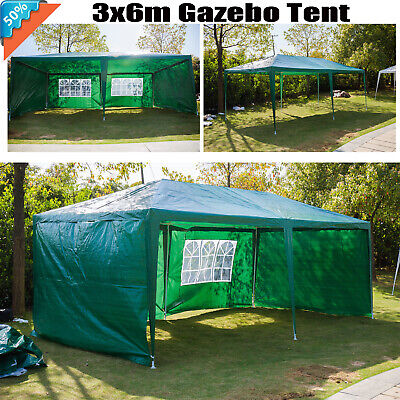 Stronger Gazebo Weatherproof Wedding Party Tent with 4 Sides 3m x 6m Heavy Duty