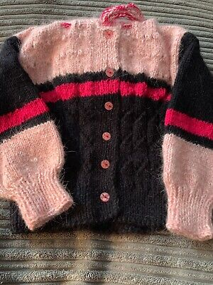 hand made knitted baby cardigan