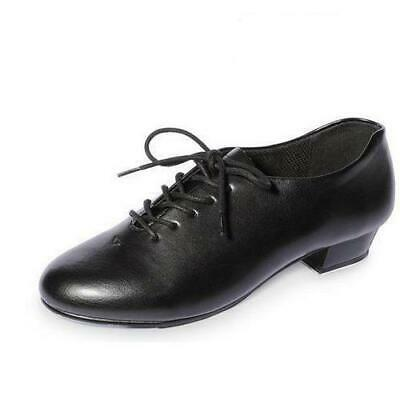 Tap Shoes Girls Boys Black Lace Up Taps on Heels & Toes All Sizes
