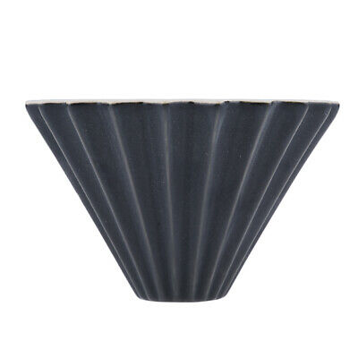 Ceramic Coffee Filter Pour Over Coffee Maker Cone Dripper Brewer Black
