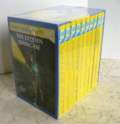 NEW Nancy Drew BOXED SET #1-10 HC YELLOW GLOSSY Mystery Collection SEALED