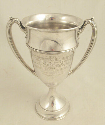 1920 Sterling Silver Loving Cup from Connecticut Trade School