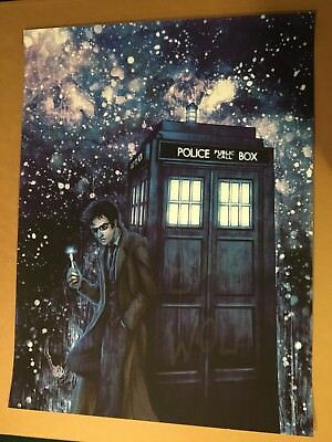 Doctor Who Bad Wolf Tardis Glow In The Dark Screen Print Poster