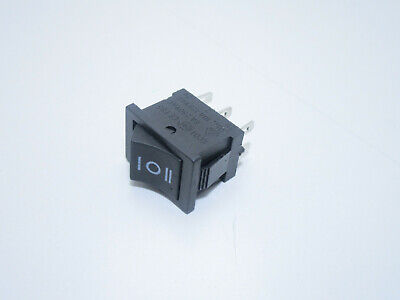 Interruttore deviatore bipolare DPDT a 3 posizioni on off on 6 pin 250V 10A 2041