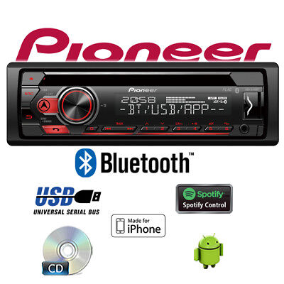 Pionero DEH-S410BT Radio - Bluetooth Spotify CD Mp3 USB Android IPHONE Autoradio