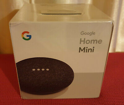 New Google Home Mini Smart Assistant - Charcoal - Sealed & Unopened in box