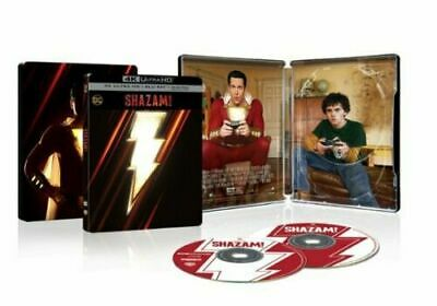 Shazam! Steelbook (4K Ultra HD Blu-ray/Blu-ray/Digital) FREE SHIP NEW New