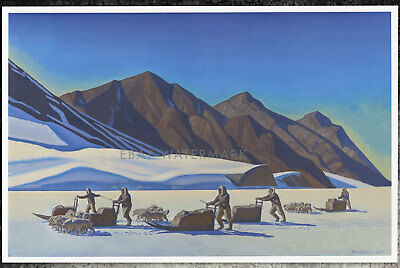 "1944 ""Polar Expedition"" Rockwell Kent Poster Art Print 11x17 Sled Dogs, Iditarod"