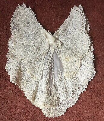 Antique/Victorian Lace Triple Layered Butterfly Wing Collar