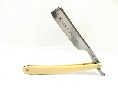 "Antique Joseph Rodgers & Sons ""Master Razor No. 1"" Straight Blade - White Handle"