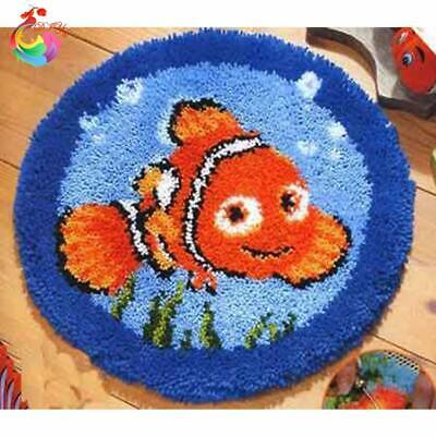 """Patchwork Latch hook rug kits Needle work thread embroidery """"Finding Nemo"""" 50x50"""