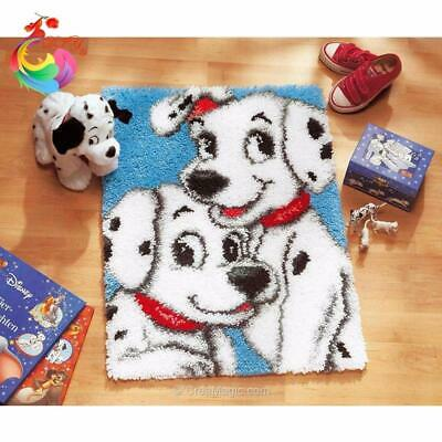 """Patchwork Latch hook rug kits Needle work thread embroidery """"Dalmations""""52x38cm"""