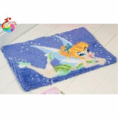 """Patchwork Latch hook rug kits Needle work thread embroidery """"Tinkerbell""""52x38cm"""