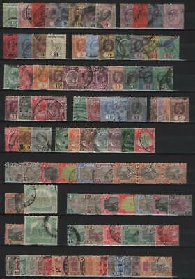 MALAYA/STRAITS SETTLEMENTS: Used - Ex-Old Time Collection - 2 Sides Page (25214)