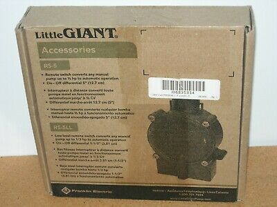 NEW NOS Little Giant 599008 RS-5 Piggyback Diaphragm Switch 115V 10.0A