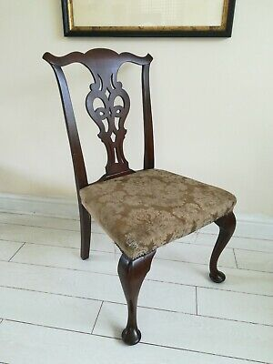 Antique Elbow Chair, 19th Century in Chippendale Taste Project