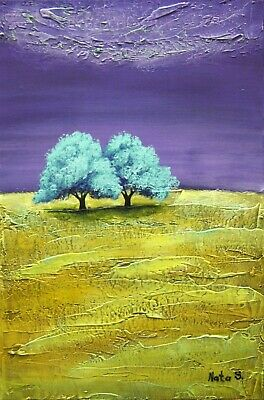 Abstract Forest Painting Colorful Painting Original Textured Wall Art by Nata S.