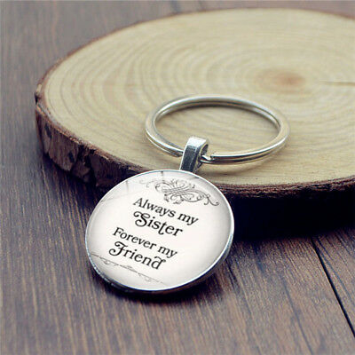 Always My Sister Forever My Friend Letter Engrave Key Chain Key Ring ON SALE