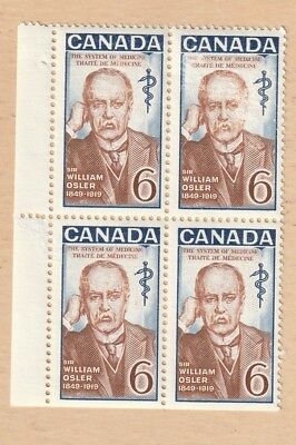 Canada Stamp 1969 50Th Anniv Of The Death Of William Osler Block Mnh Lot 333