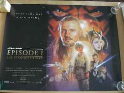 PHANTOM MENACE DS British quad 1999 poster Star Wars Episode I original