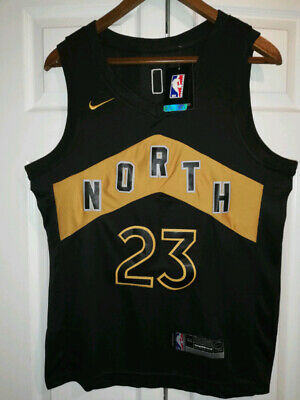 New Fred Vanvleet Jersey - Black and Gold North - With Finals Patch, S, M, L, XL