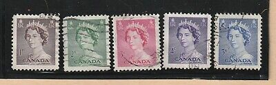 Canada Stamp  1953 QUEEN ELIZABETH USED LOT 606