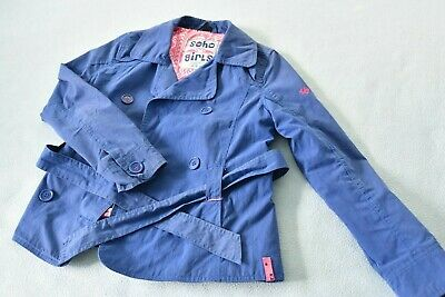 Soho Girl's New York Blue Summer Coat/Jacket Button & Belt Age 13-14yrs