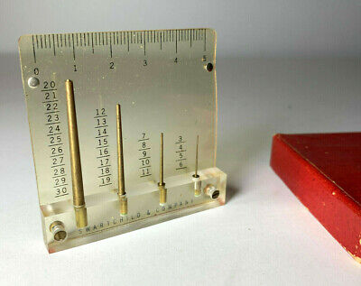 Vtg Swartchild Hand Gauge Gage Mm Swiss Tool Set Boxed Clock Maker Watchmaker