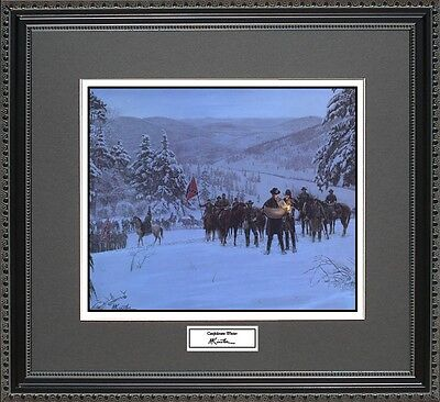 Mort Kunstler CONFEDERATE WINTER Framed Print Civil War Wall Art Gift