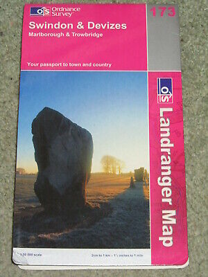 OS Ordnance Survey Landranger Map Sheet 173 Swindon & Devizes