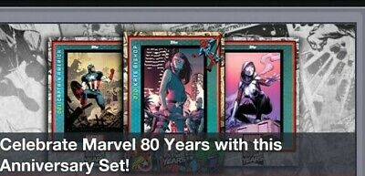 Topps Marvel Collect Card Trader Marvel 80 Years Anniversary Set Wave 1 NO Award