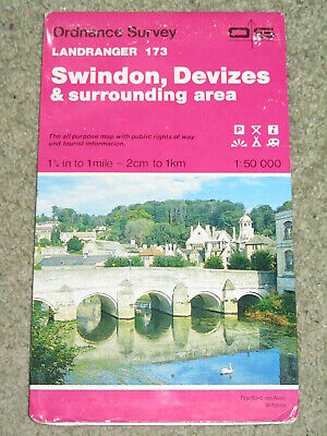 OS Ordnance Survey Landranger Map Sheet 173 Swindon, Devizes & surrounding area
