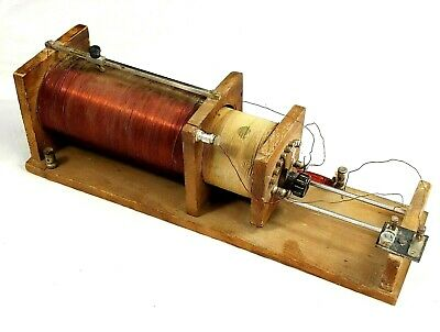 Antique 1919 Radio Crystal Coil~hand made~Dual coil~
