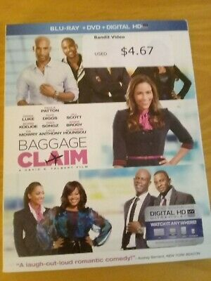 Baggage Claim Blu Ray digital copy 2014 Paula Patton no dvd has slipcover