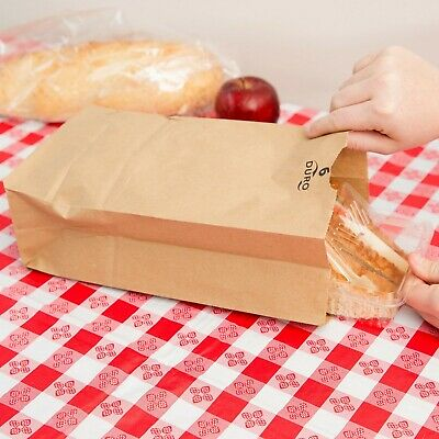 (500-Pack) 6 lb. Brown Disposable Paper Grocery Bags, Made in USA
