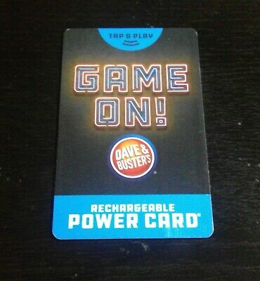 Dave and Busters power card w/ 40,000+ redemption tickets