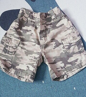 Mothercare Baby Boys- Beige Camoflage Shorts (3-6 Months)