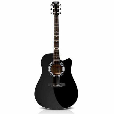 """Cutaway Electric Acoustic Guitar Wooden Full Size Amplifier Compatible 41"""" Black"""