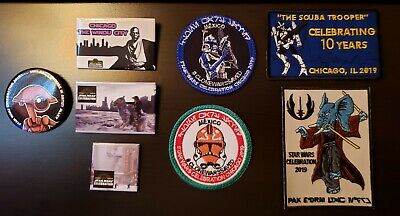 Star Wars Celebration Chicago 2019 Patches and Pins Lot Celebrating 10 Years