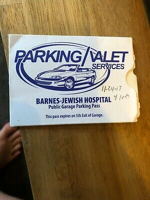 Barnes Jewish Hospital Public Garage Parking Pass 4 Uses Unlimited Time Per Use