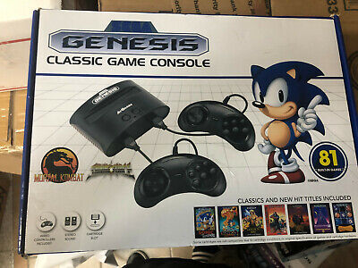 SEGA GENESIS Classic Home Game Console with 81 Built-in Games AtGames FAST SHIP