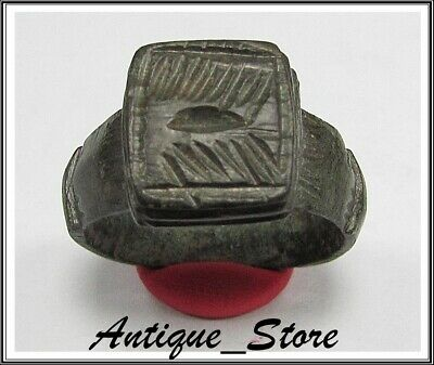 ** GALLEY **Ancient Legionary Bronze Greek Roman Ring ** VERY RARE **