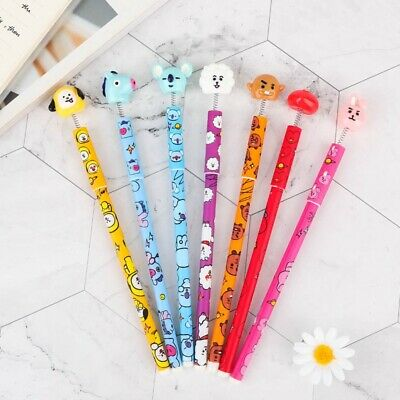 KPOP BANGTAN BOYS BTS Gel Pen Cartoon Character Pen JUNGKOOK JIMIN V Black Ink