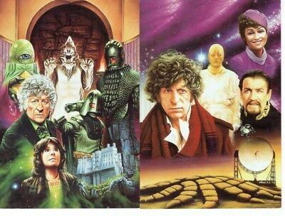 2 Dr. Who Postcards, 2nd Series # 2 & #11 - Slow Dazzle Worldwide