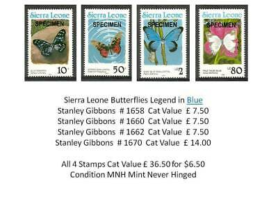 (1a) Sierra Leone Insects Butterflies Blue MNH - Bargain Super Deal Cat £36.50