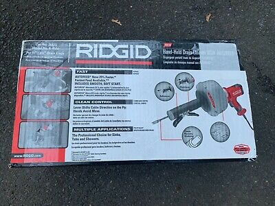 Ridgid K-AF 35473 HAND HELD DRAIN CLEANER MACHINE AUTO FEED SNAKE PLUMBER NEW
