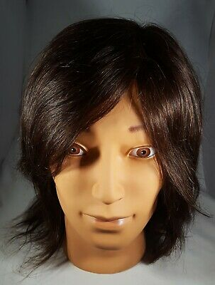 Cosmetology Male Mannequin Head with Real Brown Hair (Aiden) Brand: Fromme