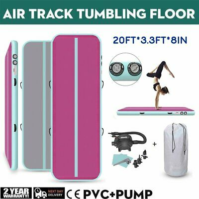 20ft Airtrack Inflatable Air Track Floor Home Gymnastics Tumbling Mat GYM w/Pump
