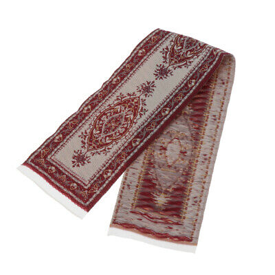 1:12 Dollhouse Carpet Rug Footcloth Furniture for Any Room Decor Wine Red
