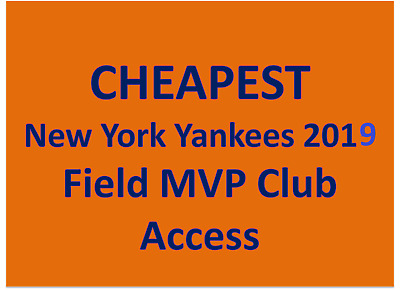 Two Yankee Field MVP Club ticket Texas Rangers vs New York Yankees  Sep 2